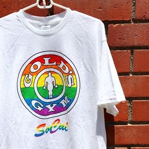 Gold's Gym SoCal Pride Rainbow Colored Tee